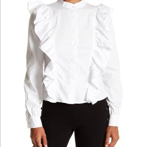Romeo Juliet Couture White Blouse Button Shirt Top